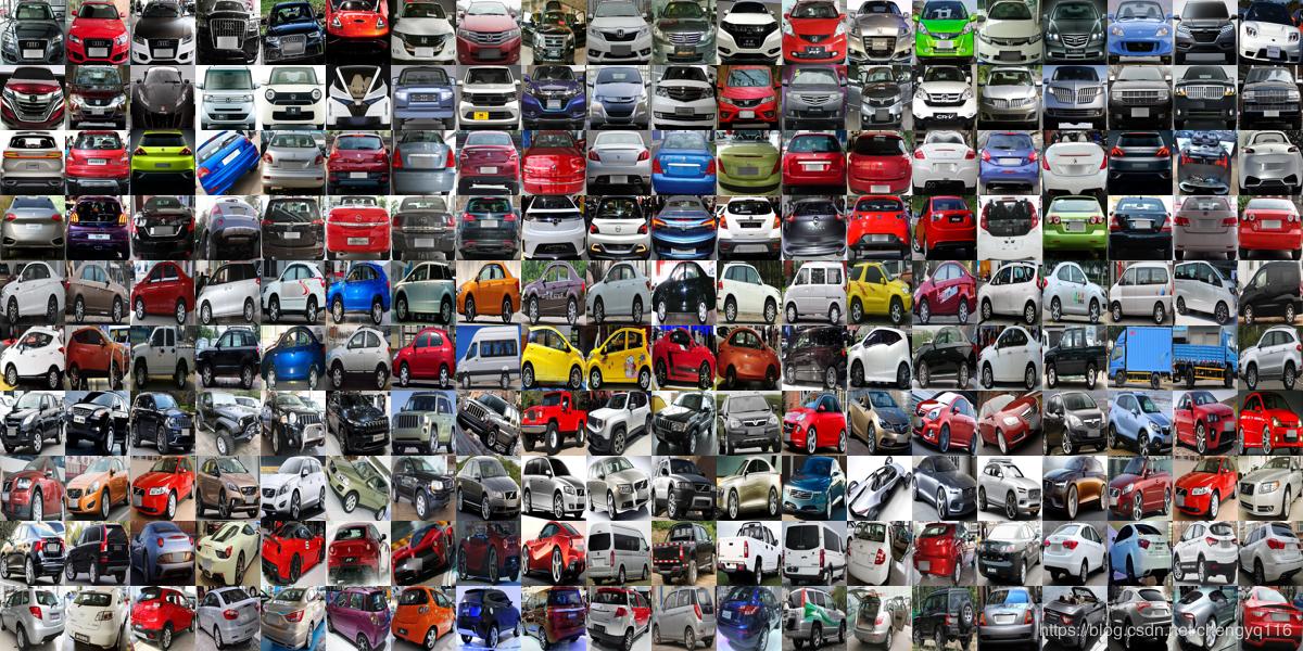用于细粒度分类和验证的大型汽车数据集