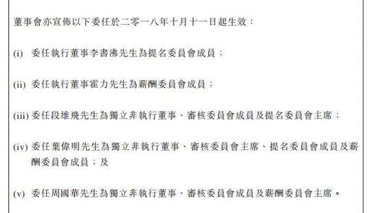 桐成控股董事会重组:火币李书沸、霍力进入委