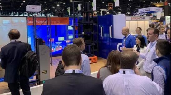 国自机器人新品AGV在芝加哥国际物流展