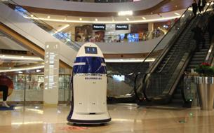 安保巡逻机器人首次亮相2019数博会