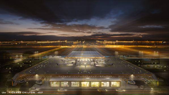 航站设计每小时可起降千架飞机!Uber空中出租车