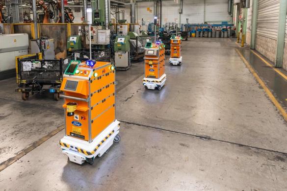 名傲自主移动机器人为福特汽车内部物流