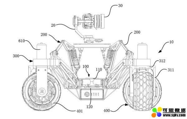 DJI 为遥控越野车申请专利,360 度旋转车轮 + 可调