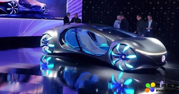 奔驰 Vision AVTR 电动概念车,灵感来自